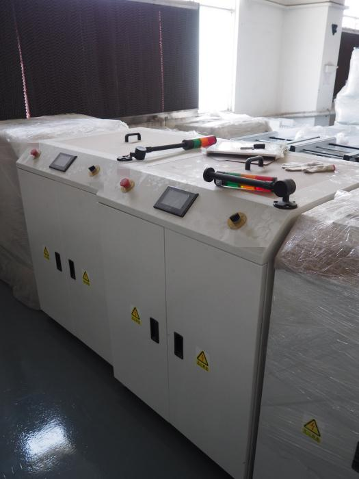 Colorful Touch Screen Turning Conveyor PTF-250 with PLC Control System